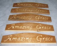 Amazing Grace Plaques made from Salvaged Antique Desk