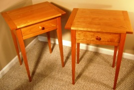 Cherry Shaker Side Tables-PAIR
