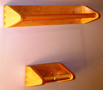 Custom Maple Shaker inspired Towel Holder and Toilet Paper Holder